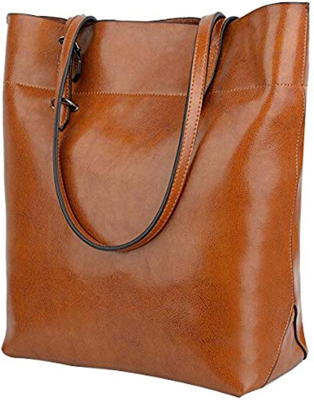 LHKFNU Women's Soft Leather Work Tote Shoulder Bag