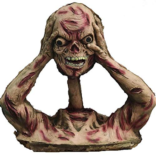 INSN Broma Horrible, Complicado, Decoracin De Halloween, Accesorios/Juguetes De Zombies Decapitados De Apariencia Realista, para Bromas De Festivales, Casa Embrujada, Decoracin De Fiestas