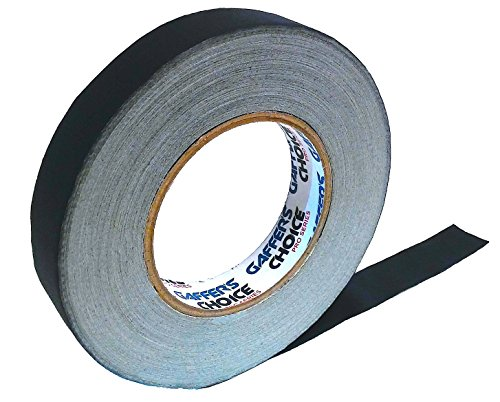 Gaffer Tape 1 inch x 60 Yard Black by GAFFER'S CHOICE - Adhesive is Safer Than Duct Tape - Waterproof & Non-Reflective Multipurpose Spike Tape