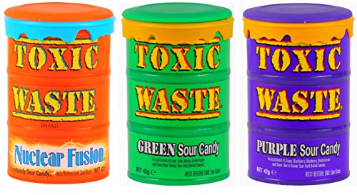 Toxic Waste Mix | Nuclear Fusion | Purple Sour Candy | Green Sour Candy | 3x42g