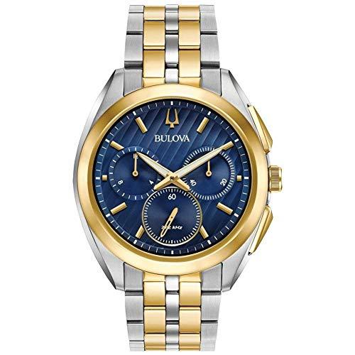 Bulova herenhorloge chronograaf kwarts horloge met roestvrij stalen armband 98A159
