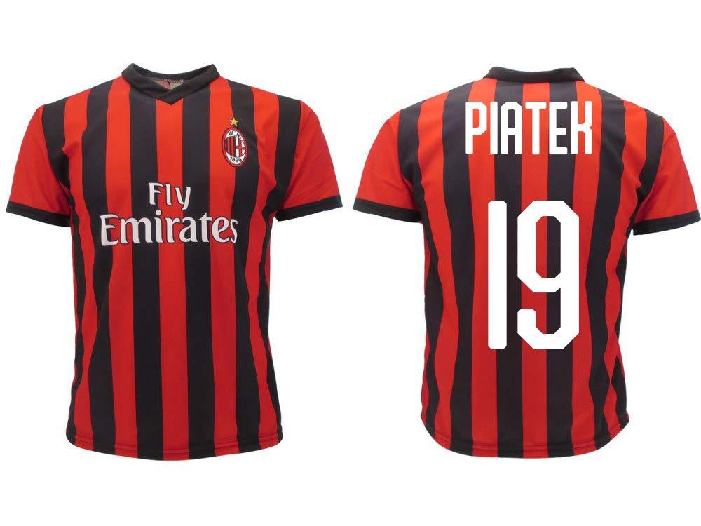 Camiseta Jersey Futbol Milan Piatek 19 Replica Oficial Autorizado ...