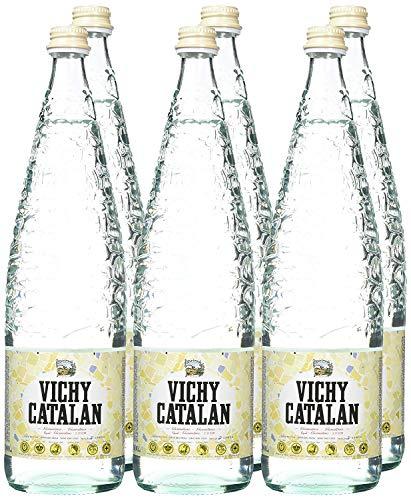 Vichy Catalán Agua Mineral con Gas botella cristal 1 litro - [Pack 12]