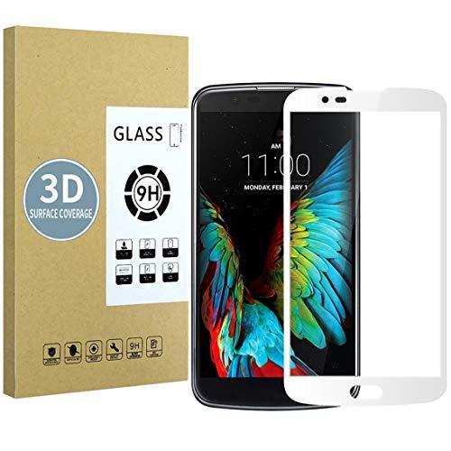 E-Hamii Protector de Pantalla Compatible con LG K7[Blanca],[Alta definición][Anti arañazos],Cristal Templado 3D,[Respuesta Sensible][Instalación sin Burbujas]