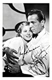 Humphrey Bogart & Ingrid Bergman Signiert Autogramme 21cm x