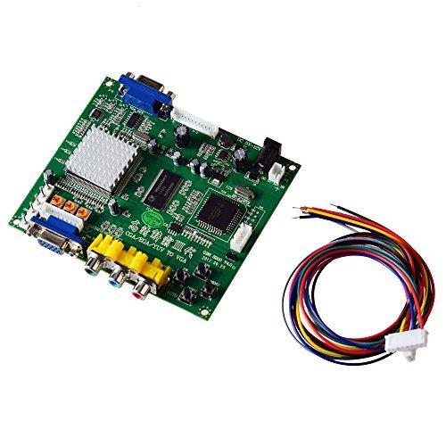 Mcbazel Scheda di conversione video da gioco RGB/CGA/EGA a VGA HD Arcade Game per monitor da gioco Arcade a proiettore LCD PDP CRT