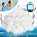 Tycoonomo Bolas de filtro de 700 g para bomba de filtro, piscina, sistema de filtro de arena que pueden reemplazar 25 kg de arena de filtro, gran efecto de filtro y reciclable.