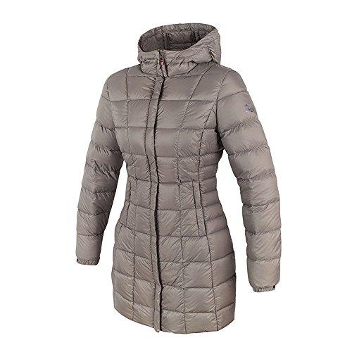 Brekka 365Down Parka Gänsedaunen Jacke Feder D Frau Streetwear Segeljacke Giacca Donna, Damen, Grey OAK, Medium