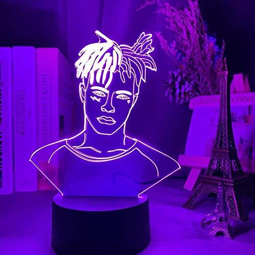 GEZHF 3D ilusión luz LED noche Super Star Rapper Cool Fans regalo habitación decoración escritorio dormitorio lámpara mesa