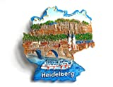 City Souvenir Shop Relief-Magnet Heidelberg Deutschland