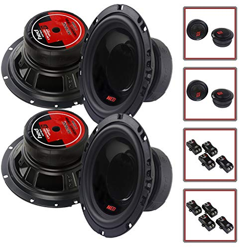 """4 Speaker Cerwin Vega 2-Way Component 6.5"""" Speaker Systems with Tweeters and Crossovers H765C"""
