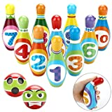 Fansport 12PCS Bolos de Juguete,Bolos para niños Interiores y...
