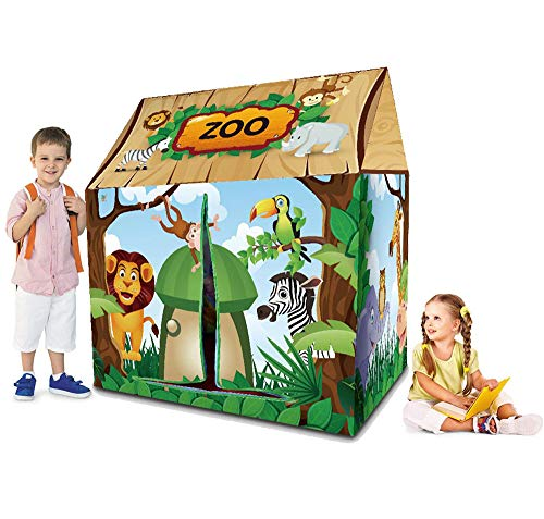 Ydq Kids Play Tent, Zoo Houses Great Tractor Toy, Sun Shelter Playhouse | Den for Indoor Outdoor Garden Gazebo for Children Camping Picnic Travel