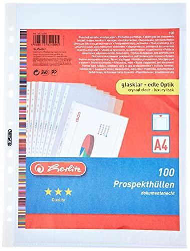 Herlitz Herlitz 5824008 ,A4, glasklar, Stärke Bild