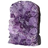 Nupuyai Amatista druse grande de cristal en bruto para decoración, amatista natural, piedra de cuarzo (200 g - 300 g)