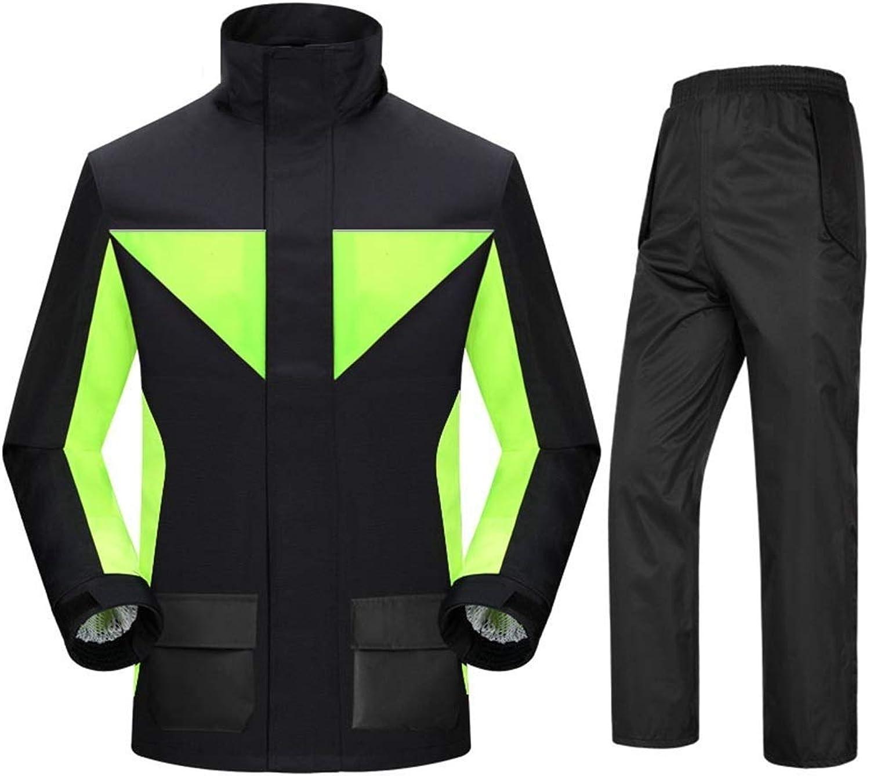 Waterproof Rain Jackets and Rain Pants Suit Windproof Reusable Raincoat Men and Women Outdoor Work Sports Motorcycle (Size   XXLarge)