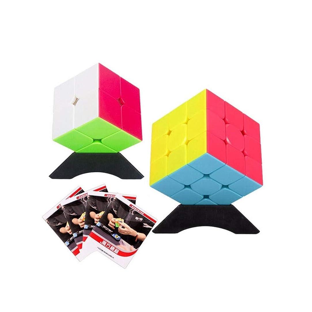 褒賞リハーサル思想Hongyushanghang ルービックキューブ、手頃な価格の2パックルービックキューブ、知的小物のスムーズな開発、使いやすい、贈り物としてもお使いいただけます(2次および3次) 使いやすい (Edition : Two-order and Third-order)
