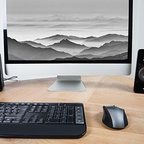 Trust Tecla schnurlos Multimedia Tastatur und Maus (deutsches Tastaturlayout, QWERTZ) grau