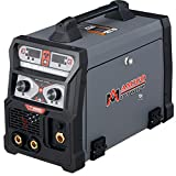 Amico MTS-185, 185 Amp MIG Wire Feed/Flux Core/TIG Torch/Stick Arc Welder, Weld Aluminum with 2T/4T 110/230V Welding