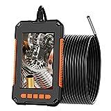 DDENDOCAM Endoscopio Industrial, cámara de inspección de boroscopio de 3.9 mm, cámara de Serpiente HD 1080P con Pantalla de 4.3 '' con 6 Luces LED, Cable semirrígido, Tarjeta TF de 32 GB (10M)