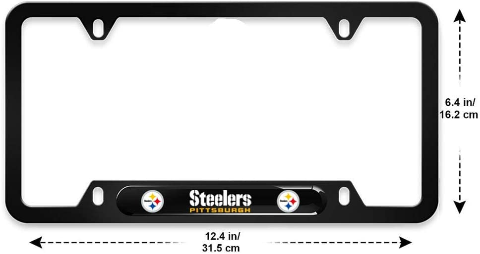 fit Packers yonggan 2PCS fit Green Bay Packers License Plate Frames Matte Black Aluminum Alloy License Plate Frame Matching with Screw Cover Set