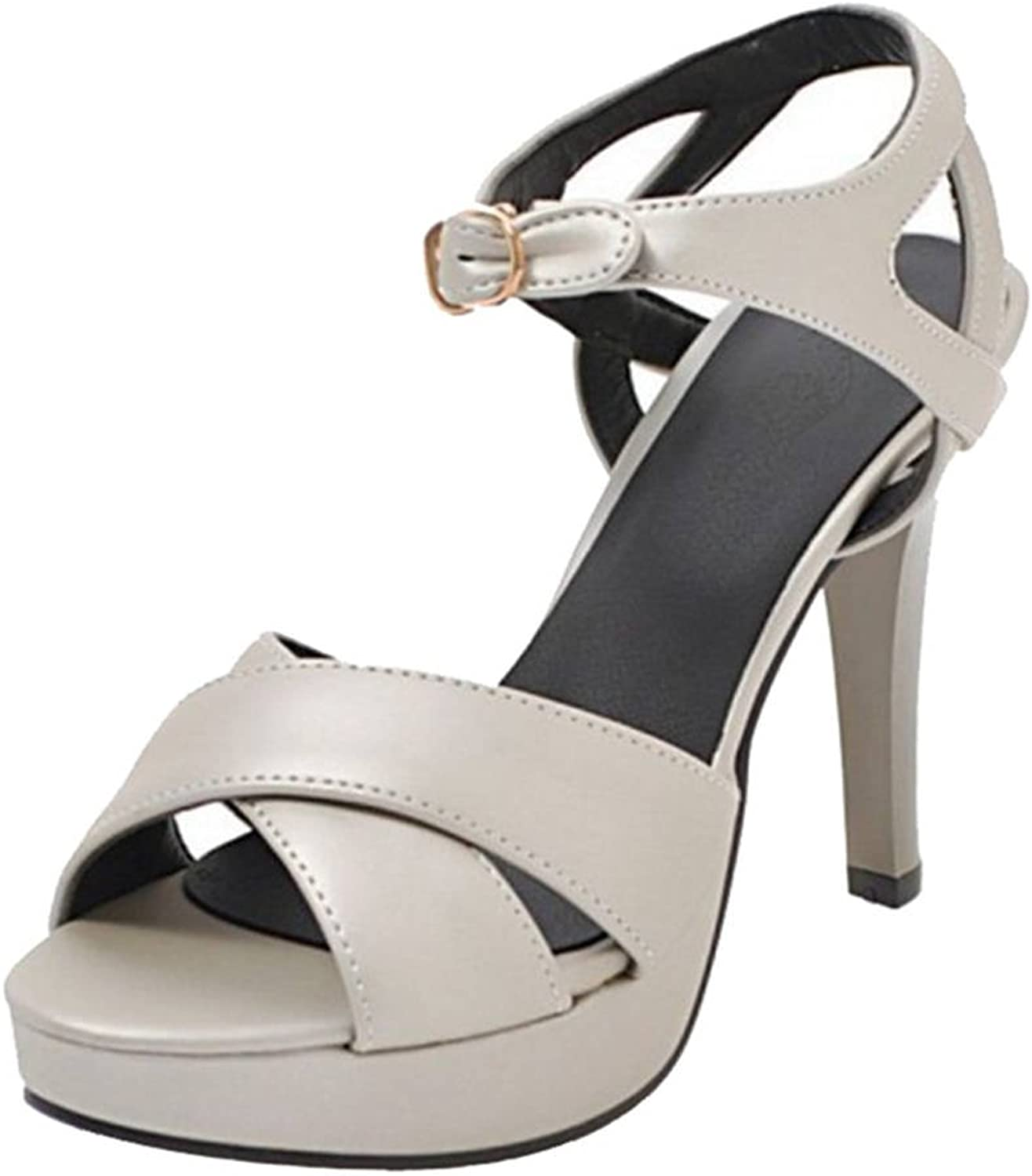 CUTEHEELS Sandals with High Thin Heel and Thick Platform Dressy Sandals for Wedding Parties