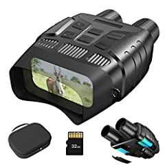"""LARGE DYNAMIC WIDE SCREEN: Night Vision goggles with 2.31'' TFT view screen, convert to 3"""" large viewing screen by the convex lens. The night vision combines an excellent fully multi-coated all-optical system with a video camera, allows quickly captu..."""