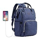 SUNVENO Wickelrucksack für Mütter, Reiserucksack, Wickeltasche, große Kapazität, Mutterschaftstasche mit USB-Ladeanschluss, breiter Schultergurt, isolierte Taschen, stilvoll und langlebig, blau