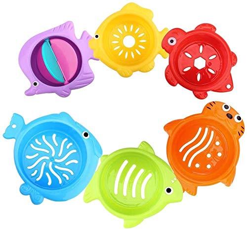 Aoyo Plastique 6pcs / Set bébé Coupes Stacking Mer Animaux Bain Jouet Natation Jouets éducatifs for Les Enfants Funny Game, coloré