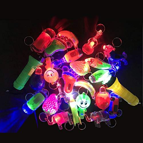 T & J Fashion 24 Stück LED Schlüsselanhänger Spielzeug Angeln Spielzeug kleine Geschenke Tasche füller für Kinder