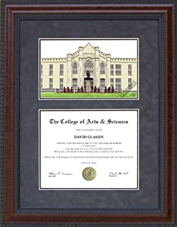 Wordyisms Diploma Frame with Virginia Military Institute (VMI) Campus Lithograph
