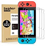 「3枚入り」Nintendo Switch対応 任天堂 スイッチ対応 保護フィルム 「日本旭硝子素材」iVoler 専用強化 ガラスフィルム 硬度9H 指紋防止 高透過率0.26mm ガラス飛散防止 自動吸着 気泡ゼロ 極薄