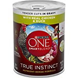 Purina ONE Natural Gravy Wet Dog Food, SmartBlend True Instinct Tender Cuts With Real Chicken & Duck - (12) 13 oz. Cans