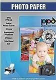 PPD 100 x Fotokarten 4x6' (ca. 10x15cm) - Inkjet 260 g/m2 Fotopapier Glänzend - sofort trocken, wischfest, wasserfest PPD048-100