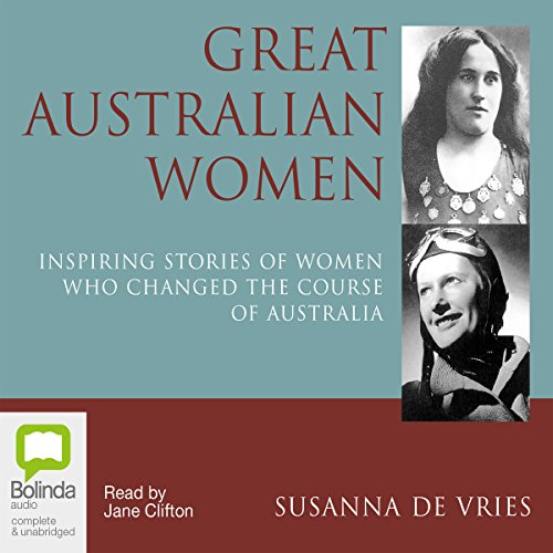 Great Australian Women audiobook cover art