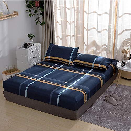 HPPSLT Protector de colchón - óptimo antiácarosFunda Protectora de una Sola Pieza para sábana antideslizante-24_180x220cm