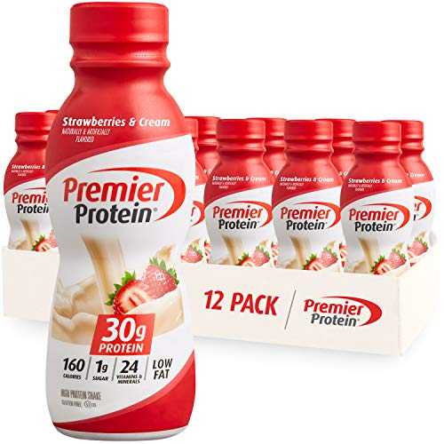 Strawberries and Cream Premier Protein Shake, 30g (Pack of 12)
