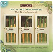 Ecotools Cruelty Free and Eco Friendly Get the Look Trio Brush Set; Three Sets, Nine Brushes, One Amazing Gift; With Fresh Complexion Set, Touch of Color Set, and Enhanced Eye Set