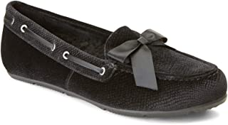 Vionic Women's Haven Alice Holiday Slipper - Ladies Moccasin Concealed Orthotic Arch Support