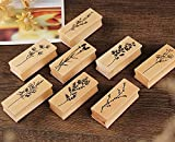 8 Pieces Wood Mounted Rubber Stamps,Plant & Flower Decorative Wood Rubber Stamp for DIY Craft, Letters Diary and Craft Scrapbooking