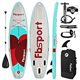 FBSPORT 11' Premium Inflatable Stand Up Paddle Board, Yoga Board with...