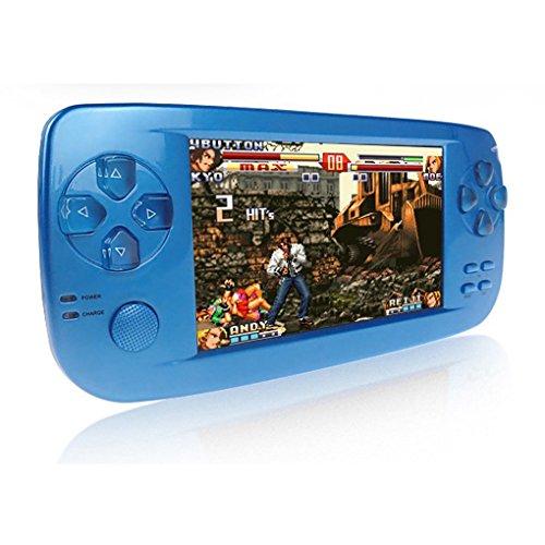 CXYP Handheld Spielkonsole, 3000 Retro Spiele 4,3 Zoll 16 GB Tragbare Videospiel Konsolen mit Kamera (Blau)