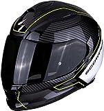 Scorpion Casco de moto EXO-510 AIR FRAME Black-Neon yellow-White, Negro/Blanco/Fluo, XL