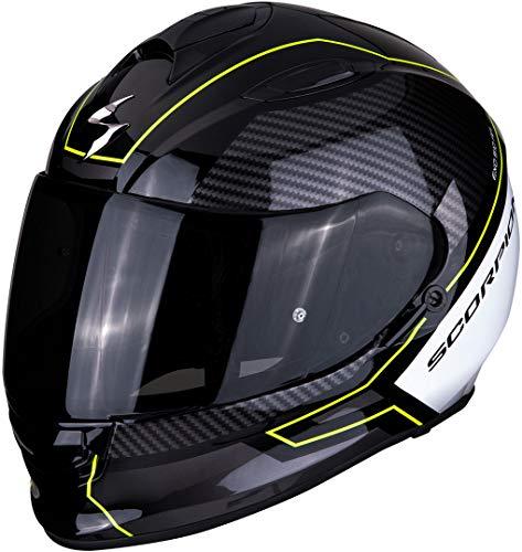 Scorpion Motorradhelm EXO-510 AIR FRAME Black-Neon yellow-White, Schwarz/Weiss/Fluo, S