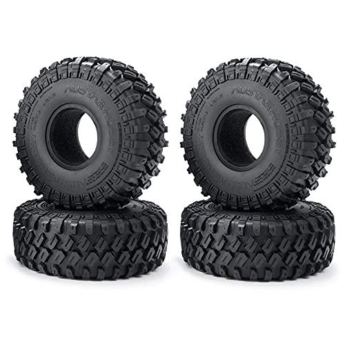 WYDM 4 Uds 123X48MM 1,9 neumáticos de Goma para 1:10 RC SCX10 SCX10 III 90046 AXI03007-4