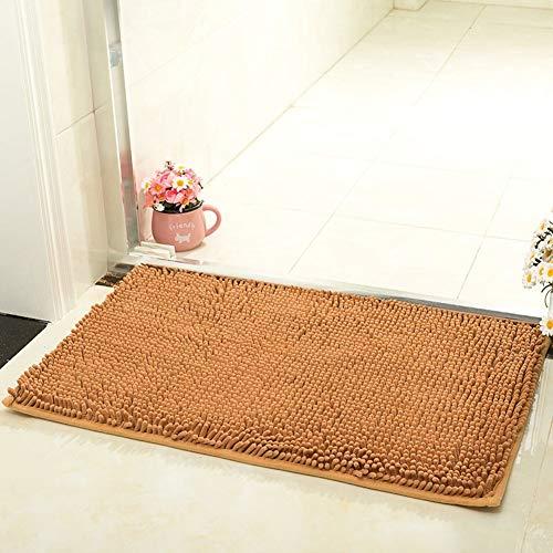 Eastery Super zachte pluche deurmat voor binnen en buiten, wollen deken, duurzaam kleine mat, moderne eenvoudige stijl, eenvoudig schoon tapijt, goud, 60 x 90 cm (24 x 35 inch)
