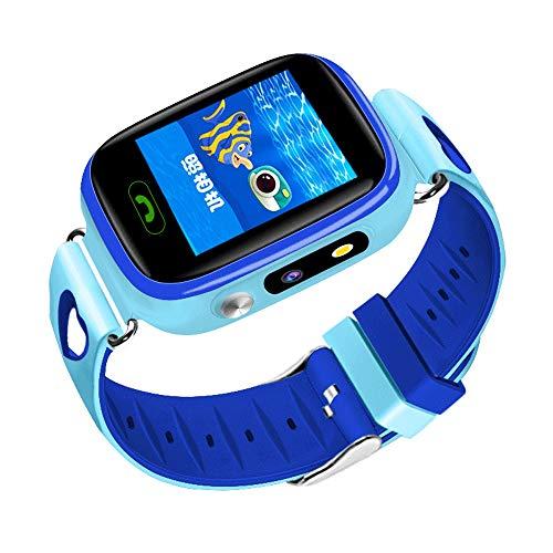 Kleurenscherm Kinderen Smart Telefoon Horloge, Slaap Monitor Calorie Counter Horloge, Children's Dames Heren Smart Armband Blauw