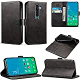 OPPO Reno 2 Case, Wallet Case Magnetic Flip Leather Cover