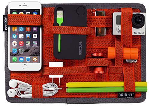 Cocoon GRID-IT - Organizer Tascabile con Cinghie Elastiche I Organizer Multifunzionale Portatile I Cerniera ad Anello - Rosso - 19,1 x 1 x 26,7 cm