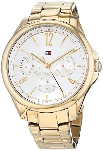 Tommy Hilfiger Damen Multi Zifferblatt Quarz Uhr mit Edelstahl Armband 1781833